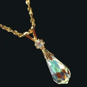 Jewelry - Vintage Austrian Crystal Pendant Necklace